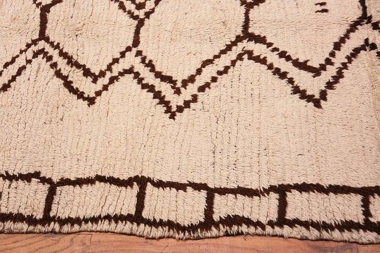 Vintage Moroccan Beni Ourain Berber rug, Morocco, mid-20th century.