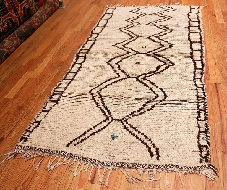 Hand-Knotted Moroccan Beni Ourain Berber Rug For Sale