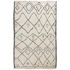 Moroccan Beni Ourain Berber Rug Made of Natural Undyed Wool
