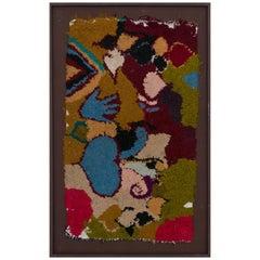 Marokkanischer Berber Handgemachter Wandteppich, Rote, Grüne und Blaue Wolle
