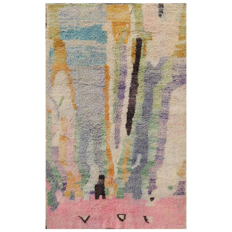 Moroccan Berber wool rug with abstract design, 2000, offered by Art Oriental GmbH