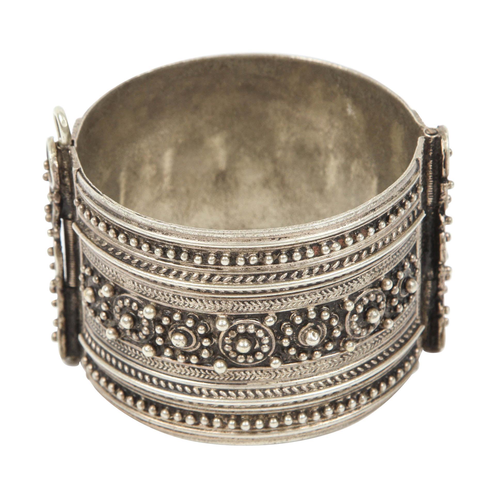 Moroccan Berber Tribal Silver Cuff