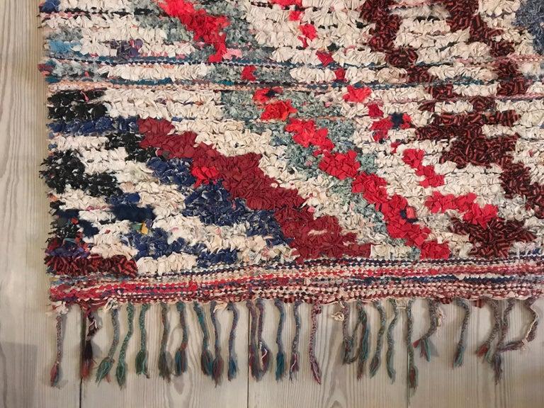 Moroccan Boucherouite Rag Rug In Good Condition In Copenhagen K, DK