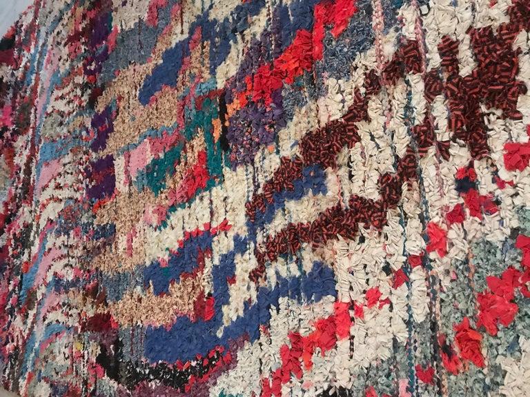 Late 20th Century Moroccan Boucherouite Rag Rug