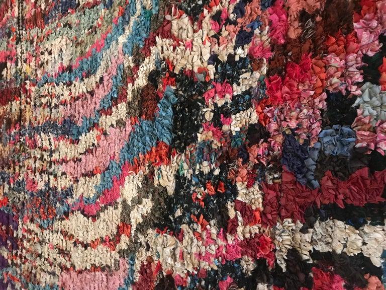 Textile Moroccan Boucherouite Rag Rug