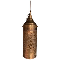 Moroccan Brass Cylinder Pendant