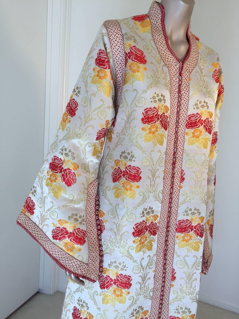 Islamic Moroccan Brocade Caftan Maxi Dress Kaftan Handmade in Morocco Africa For Sale