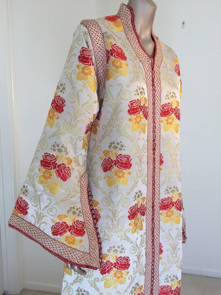 Moroccan Brocade Caftan Maxi Dress Kaftan Handmade in Morocco Africa For Sale 1