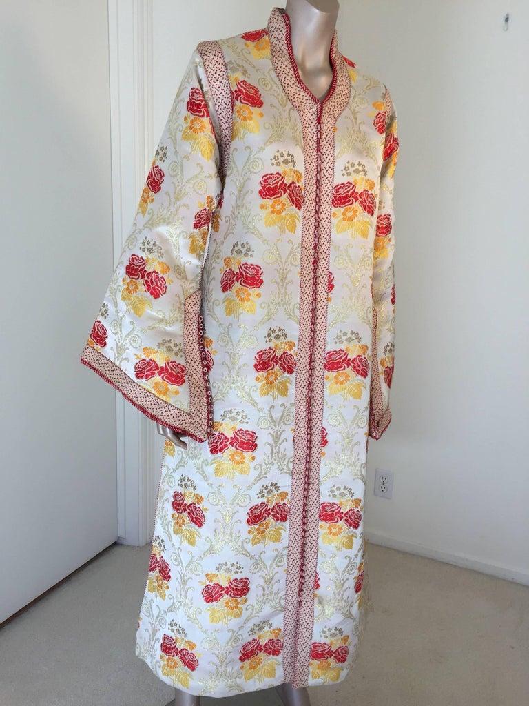 Moroccan Brocade Caftan Maxi Dress Kaftan Handmade in Morocco Africa For Sale 2