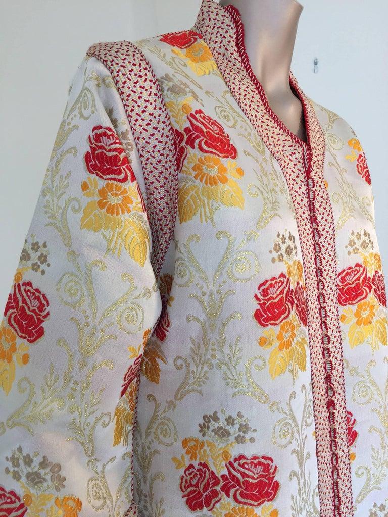 Moroccan Brocade Caftan Maxi Dress Kaftan Handmade in Morocco Africa For Sale 3