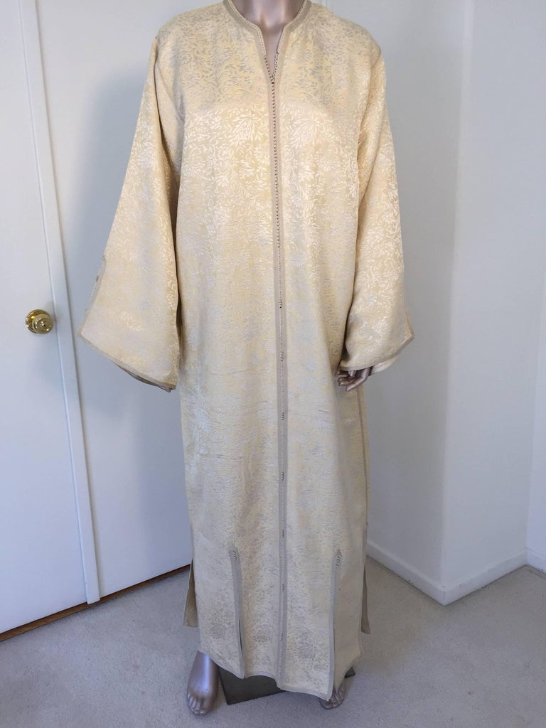 Moroccan Caftan from North Africa, Morocco, Vintage Gold Kaftan, 1970 For Sale 3