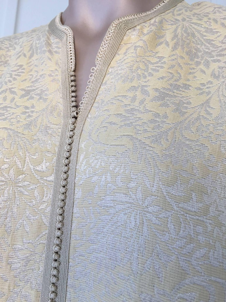Hand-Crafted Moroccan Caftan from North Africa, Morocco, Vintage Gold Kaftan, 1970 For Sale