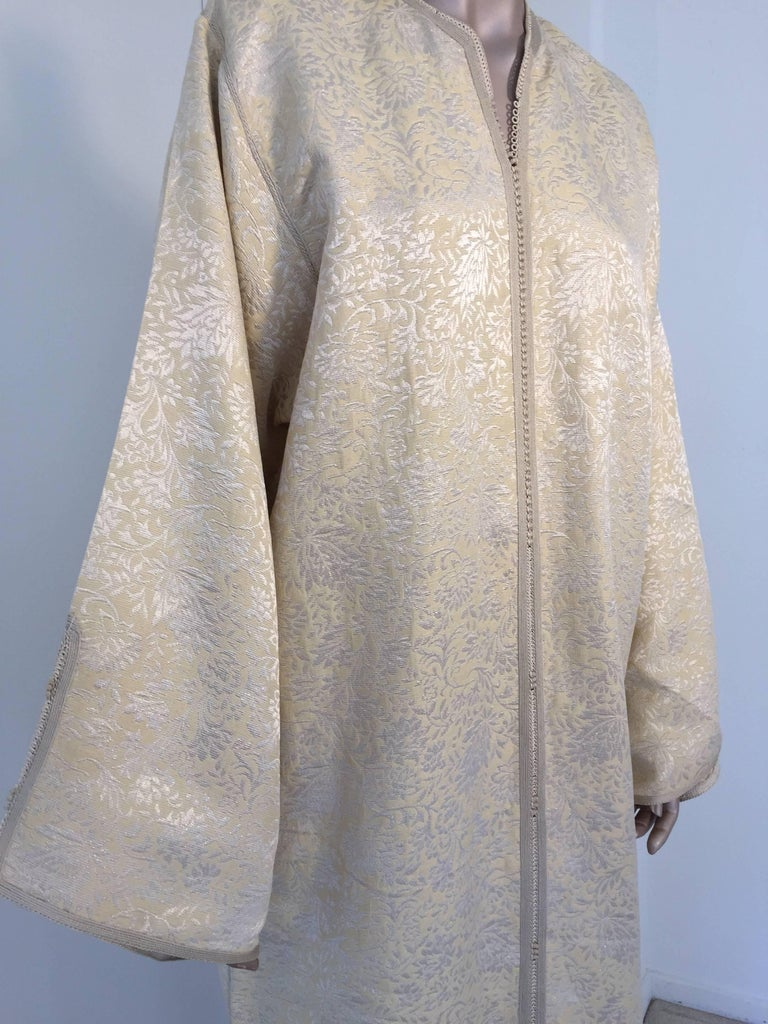 Late 20th Century Moroccan Caftan from North Africa, Morocco, Vintage Gold Kaftan, 1970 For Sale