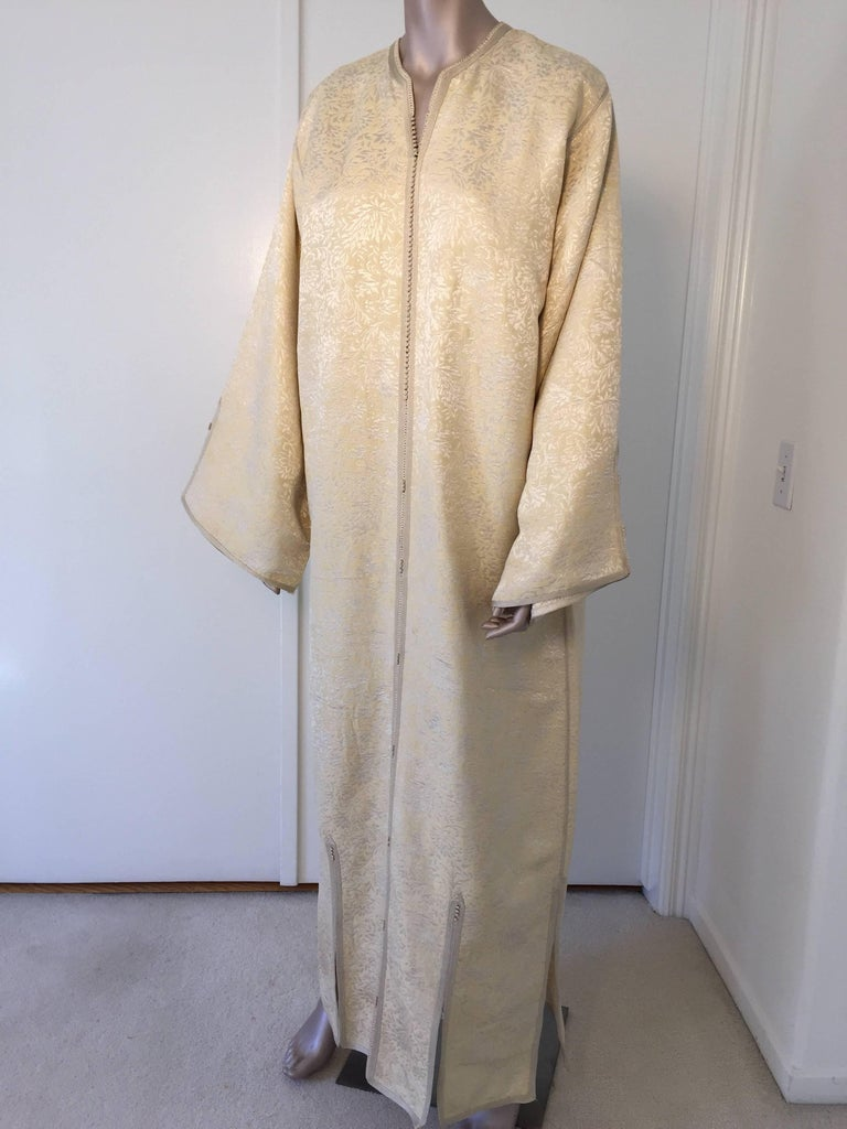 Moroccan Caftan from North Africa, Morocco, Vintage Gold Kaftan, 1970 For Sale 2