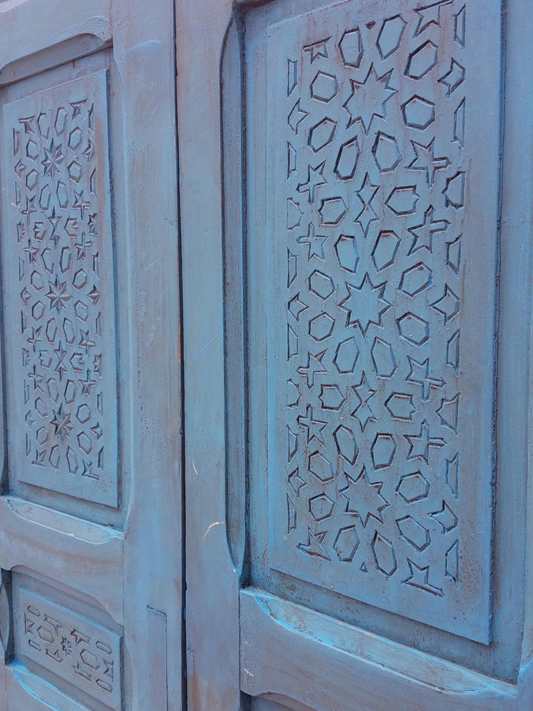 10 Kitchen And Home Decor Items Every 20 Something Needs: Moroccan Carved Cedar Wood Door-Double Panel Turquoise For