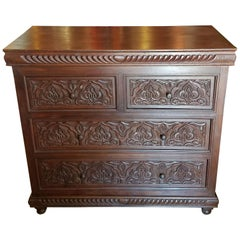 Moroccan Carved Wooden Cabinet, Plenty of Storage