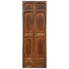 Moroccan Carved Wooden Door-Double Panel Three