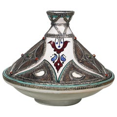 Moroccan Ceramic Tajine from Fez Polychrome
