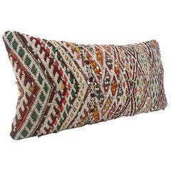 Moroccan Chic Kilim Pillow XL Lumbar Morocco Cushion