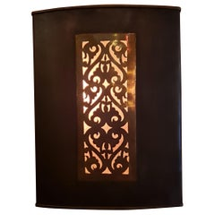 Moroccan Copper Wall Sconce, Rectangular