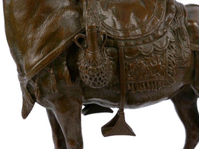 """""""Moroccan Donkey"""" French Bronze Sculpture by Jules Edmond Masson For Sale 6"""