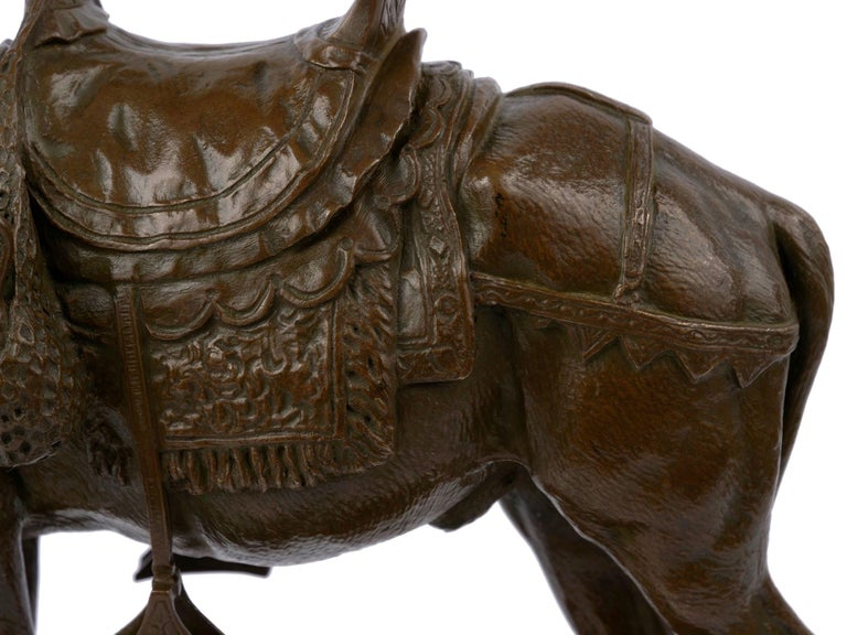 """""""Moroccan Donkey"""" French Bronze Sculpture by Jules Edmond Masson For Sale 7"""