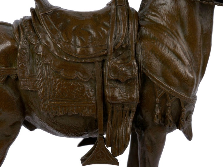 """""""Moroccan Donkey"""" French Bronze Sculpture by Jules Edmond Masson For Sale 9"""