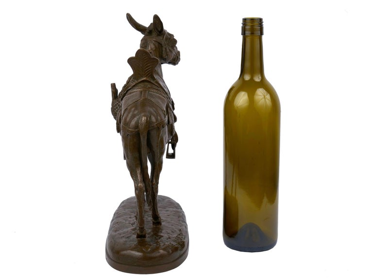 """""""Moroccan Donkey"""" French Bronze Sculpture by Jules Edmond Masson For Sale 2"""