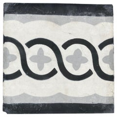 Moroccan Encaustic Cement Tile Sample with Modern Design