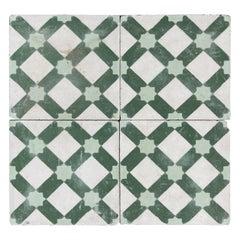 Moroccan Encaustic Cement Tiles with Moorish Design