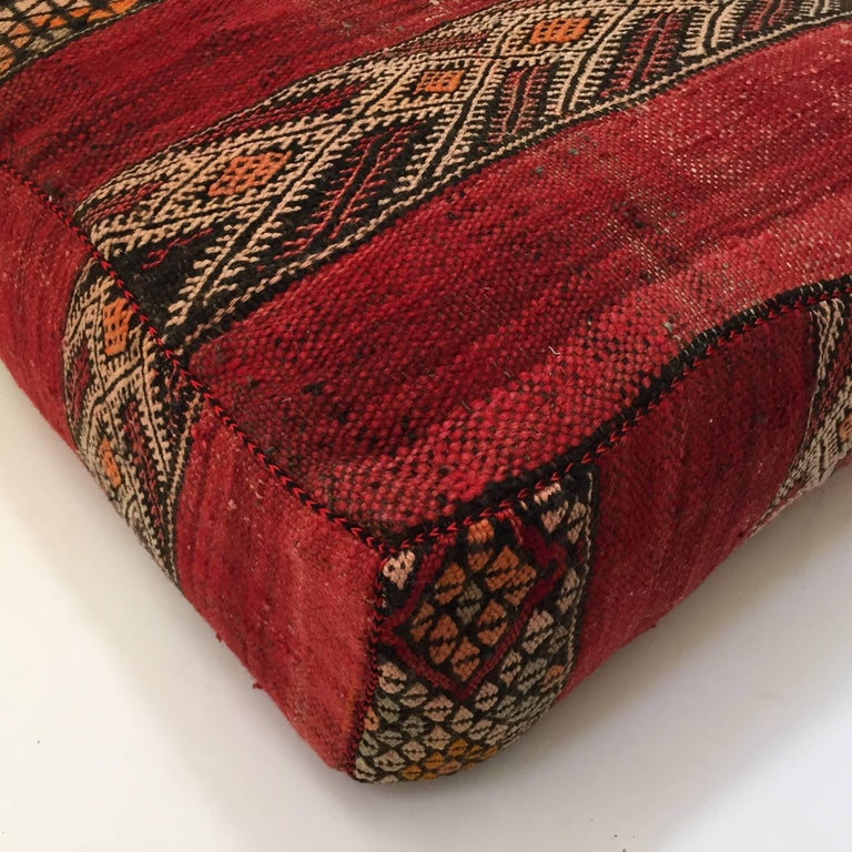 Moroccan Floor Pillow Tribal Seat Cushion Made From Vintage Berber Rug Stdibs