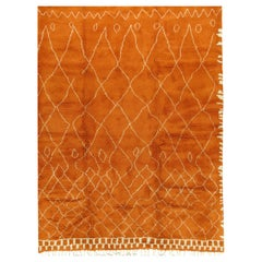 Moroccan Fluffy Collection Orange Rug