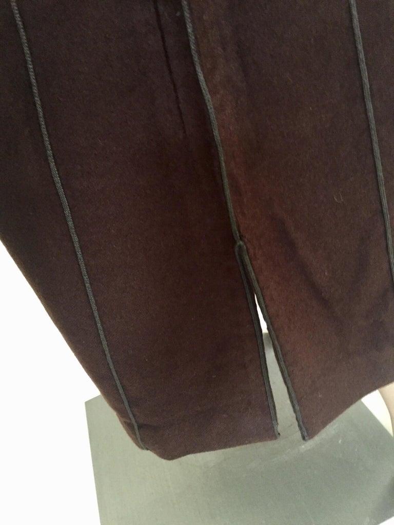 Moroccan Gentleman Hooded Brown Wool Djellaba For Sale 3