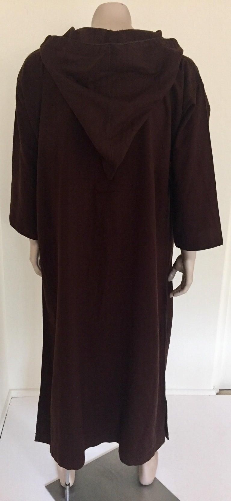 Moroccan Gentleman Hooded Brown Wool Djellaba For Sale 4