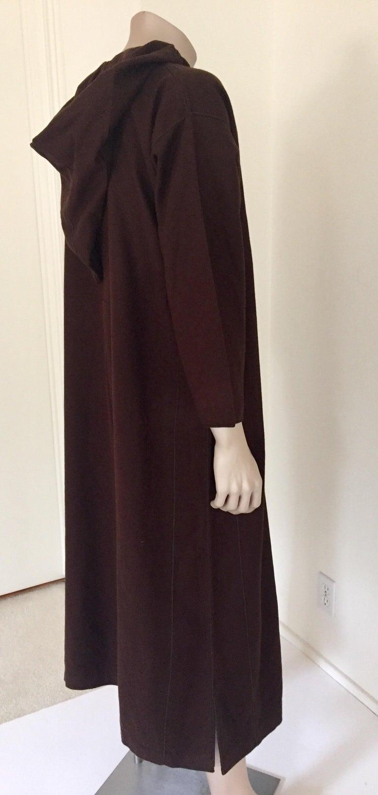 Moroccan Gentleman Hooded Brown Wool Djellaba For Sale 6