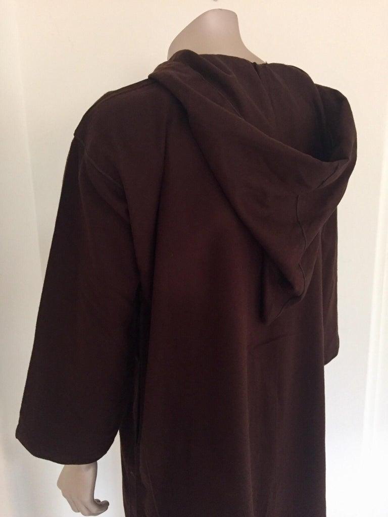 Moroccan Gentleman Hooded Brown Wool Djellaba For Sale 7