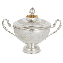 Moroccan Gilt Metal and Silver-Plate Islamic Style Dish