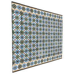 Moroccan Hand-Crafted encaustic Cement Tile with Traditional Fez Moorish Design