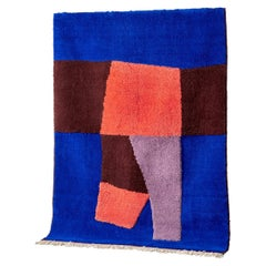 Moroccan Hand Knotted Wool Rug by Maria Jeglinska, 14 x 10 ft.