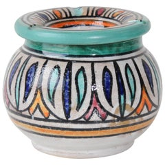 Moroccan Hand Painted Ceramic Astray from Fez