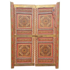 Moroccan Hand-Painted Double Door, Wooden