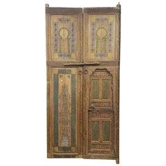 Moroccan Hand-Painted Double Door, Zouak
