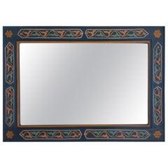 Moroccan Hand-Painted Mirror, Rectangular