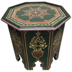 Moroccan Hand Painted Table with Moorish Designs