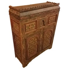 Moroccan Hand Painted Wooden Cabinet, Plenty of Storage