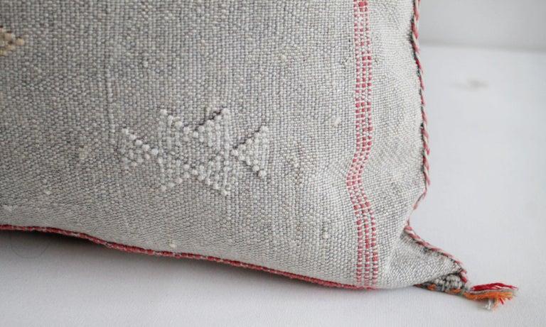 Contemporary Moroccan Handwoven Cactus Silk Pillow For Sale