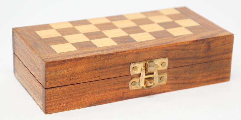 Moorish Moroccan Handcrafted Chess Thuya Wood Box For Sale