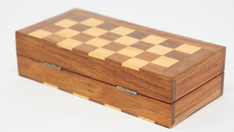 Hand-Crafted Moroccan Handcrafted Chess Thuya Wood Box For Sale