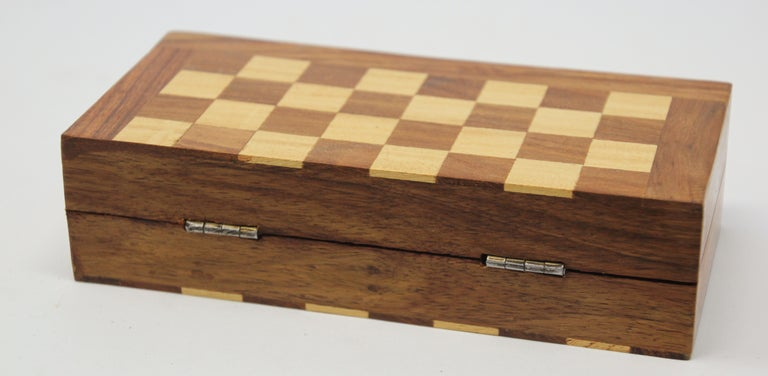 Moroccan Handcrafted Chess Thuya Wood Box For Sale 2