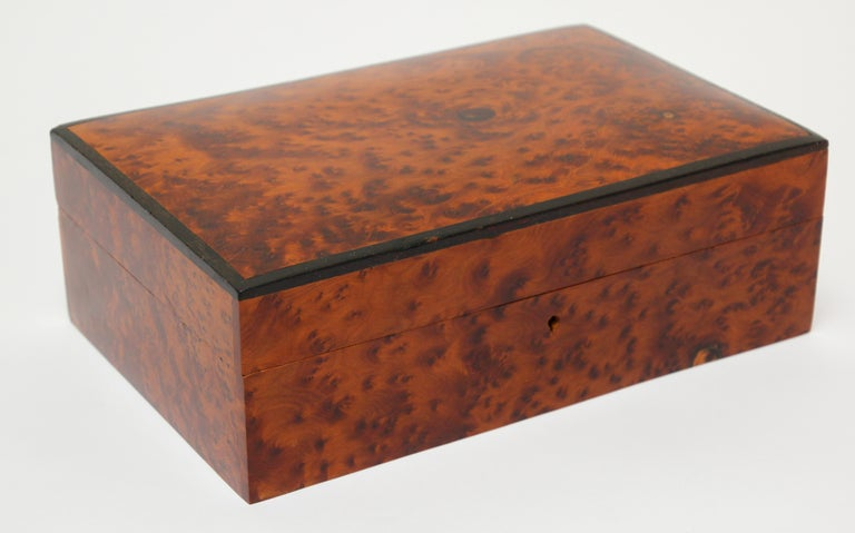 Moroccan Handcrafted Thuya Wood Jewelry Box For Sale 5